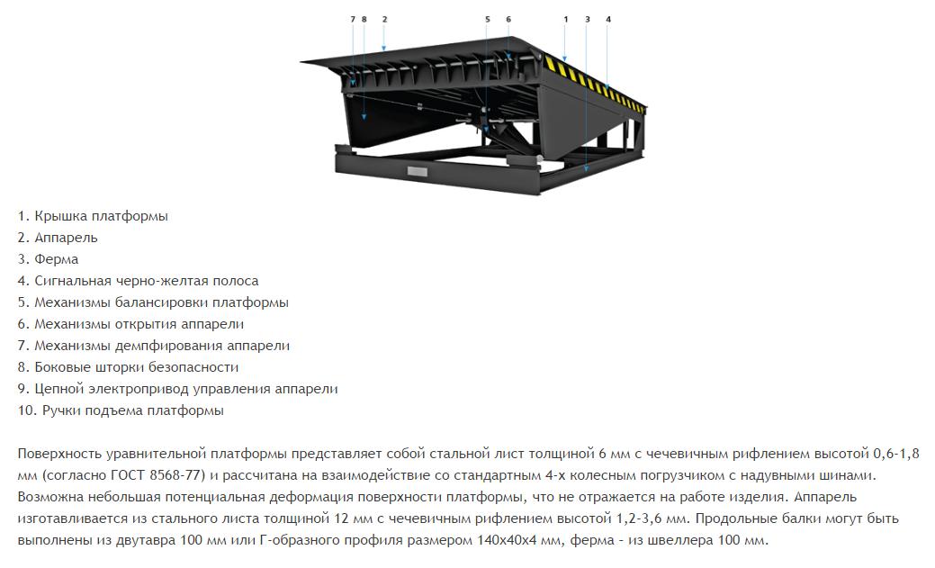 уравнительные платформы конструкция