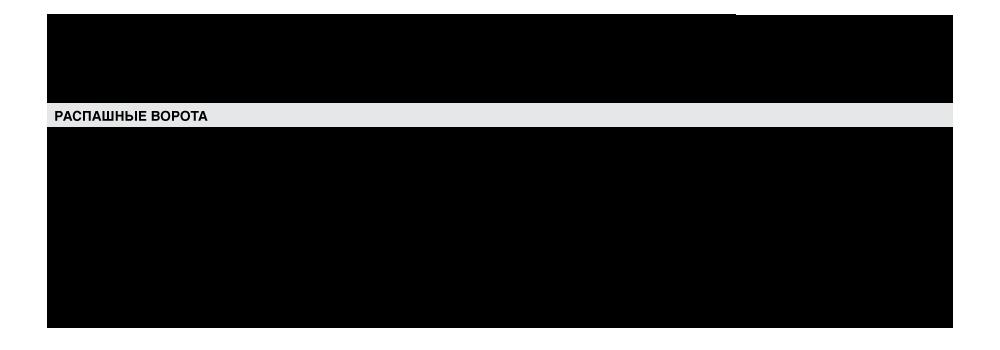характеристика распашшные ворота