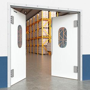 маятниковые пленочные двери