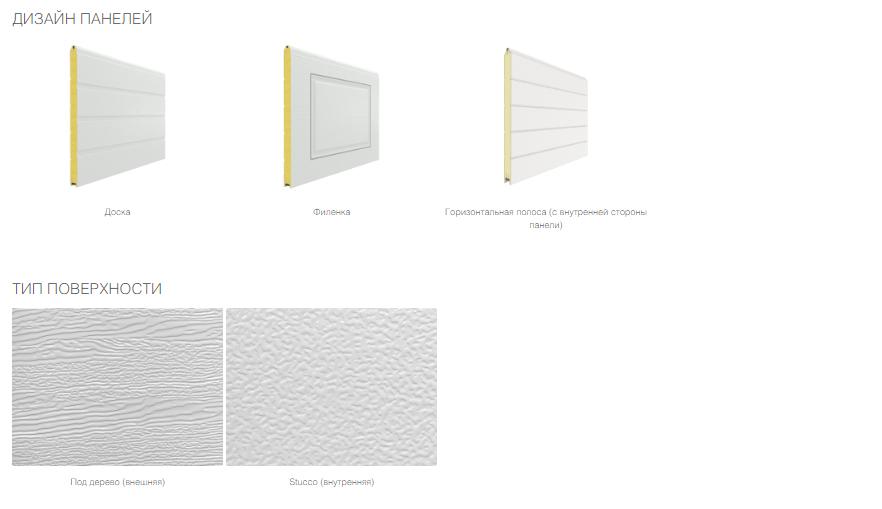 откатные дизайн панелей