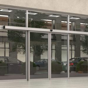 Автоматические двери изнутри помещения